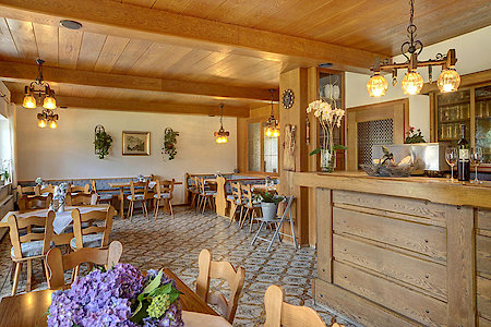 Pension Schuster - gemütlicher Frühstücksraum